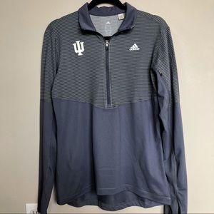 Adidas IU Grey Quarter Zip Climalite Pullover